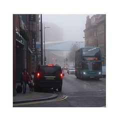 quality over quantity (Towner Images) Tags: liverpool england towner street urban fog mist hanoverstreet bus greyhound bridge townerimages city light illumination