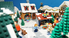 Merry Giftmas [Brickfilm] (Legostudio01) Tags: lego brickfilm legostudio01 animation stopmotion winter village christmas gifts present