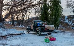 Santa's Helper (Ken Hendricks and Larry Patchett) Tags: danburymint 1935 ford usmail truck pickup 124scale diecast model forcedperspective snow merrychristmas happyholidays miracle 34th street christmas presents santa