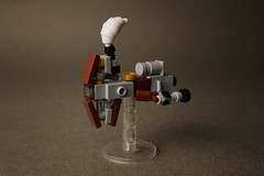 Mini steampunk Hammerhead-class cruiser (AdNorrel) Tags: lego moc spaceship legostarwars legosteampunk