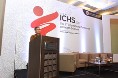 Prof. Ir. Panut Mulyono, M.Eng., D.Eng., delivers his opening remarks (International Conference on Health Sciences) Tags: international health sciences ichs 2017 yogyakarta indonesia eastparc universitas gadjah mada bpp ugm badan penerbit publikasi medicine medical research researcher speaker emerging reemerging infectious disease tropical neglected sexually transmitted drug resistance technology clinical presentation conference annual ichs2017