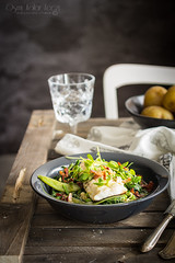 Cod with green vegetables and miso (Malgosia Osmykolorteczy.pl) Tags: food foodie foodphoto foodstyling fotografia jedzenie kuchnia culinary kulinerne fish ryba vegetables green meat