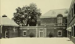 Allerton House Courtyard, Monticello, IL 1951 (RLWisegarver) Tags: piatt county history monticello illinois usa il