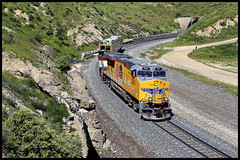 UP 5311 (golden_state_rails) Tags: up union pacific tehachapi pass ec4 clear creek ravine ca california sp atsf bealville cliff tunnel 3 4