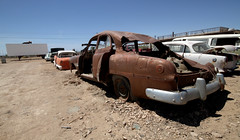 Bombay Beach Drive-In (cowyeow) Tags: abandoned saltonsea beach old forgotten deserted desert california usa america bombaybeach ruins car cars retro vintage rust rusted trashed garbage art folkart display drivein theater theatre cinema movies linedup carlot funny odd weird sold