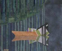 浮舟(源氏物語)- Ukifune (Genji Monogatari) (清水みのり - Artist) Tags: minori shimizu minorishimizu origami ukifune genji japan japanese art artist 清水みのり 京おりがみ 折り紙 絵画 日本画 芸術 アーティスト 浮舟 源氏物語 竹林