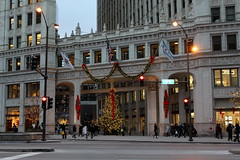Christmas at the Wrigley Building (michaelstrellish) Tags: chicago illinois wrigley building wrigleybuilding christmas christmastime christmastree holiday holidays merrychristmas happyholidays city urban christmaslights lights garland unitedstates michiganavenue magmile magnificantmile