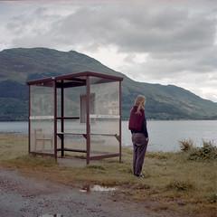 Slow Bus to Glasgow (Kenneth Ipcress) Tags: ratagan rolleiflex scotland lochduich busstop
