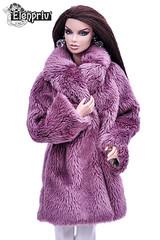 Warm fur lilac coat for my Vanessa (elenpriv) Tags: vanessa perrin metal maven 12inch fashion doll fashionroyalty integrity toys jason wu elenpriv elena peredreeva fur coat