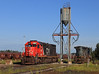 Quiet Morning at Proctor (GLC 392) Tags: cn ic canadian national illinois central dmir duluth missabe iron range 407 2465 ge c408w emd sd40t2 tunnel motor sand tower proctor mn minnesota