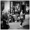 ♪♪ ♫ Vibration ♫♫♪ ♪ ♫ (madras91) Tags: nb noiretblanc blackandwhite bw monochrome nikonfa nikon film tmax tmax100 street streetphotography musician band blur