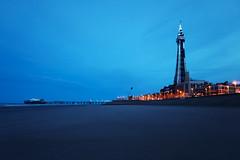 Blackpool, Blue Hour (nickcoates74) Tags: a6300 beach blackpool coast december fylde ilce6300 lancashire sel1650 sony winter uk bluehour 1650mm pz1650mmf3556 selp1650