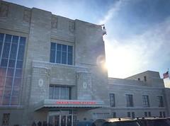 Omaha Union Station eclipsing the sun (iMatthew) Tags: architecture sun thedurhammuseum omahaunionstation omaha artdecoarchitecture artdeco