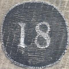 18 white on black on grainy stone (Andy M Johnson) Tags: squaredcircle nine
