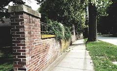 M Kirby Hosp (Allen F. Moore Estate) c1912 Brick Fence, 1111 N. State St, Monticello, IL 20170731-11 (RLWisegarver) Tags: piatt county history monticello illinois usa il
