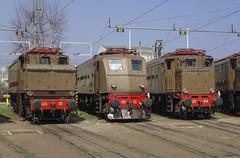 FS E 626.001 + E 428.226 III + E 428.014 I DL MI Smistamento 08/04/2006 (stefano.trionfini) Tags: train treni bahn zug fs e428 e626 milano smistamento lombardia italia italy