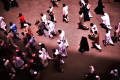 THE JUM'A HORDE (N A Y E E M) Tags: people pilgrims crowd prayers juma colors afternoon light street medina almadinah ksa saudiarabia hotelwindow islam muslim