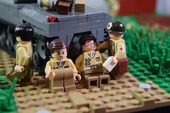 Advance into France, 1944 - shell shocked (♠York♠) Tags: lego ww2 world war 2 wwii moc minifigs minfig american german france 1944 house battle