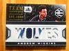 """2015-16 Limited Team Trademarks Andrew Wiggins Jumbo Patch Card #'d 01/25. Bottom part of the """"22""""s on his jersey. If you notice theres a tiny bit of blue at the """"ES"""" that proves it. (CardKing739) Tags: nba paniniamerica limited andrewwiggins karlanthonytowns minnesotatimberwolves team trademarks jumbopatch sports sportscards jersey jerseycard tradingcards card photo picture art black blue silver white colors nike adidas underarmour pinterest instagram facebook tumblr fav100 fav50 fav25 collection hobby"""