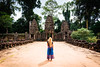 Amazing Angkor (_gate_) Tags: angkor wat siem reap cambodia kambodscha blond girl dschungle thom temple travel nikon d750 december 2017 jungle dschungel reise trip asia south east antic 2485mm color gate