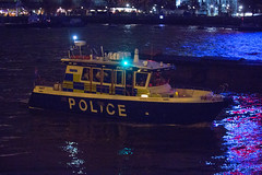 5T9W7648 (sinister pictures) Tags: pyrotechnics display firework thames celebrations 2018 newyear london uk police security launch boat england unitedkingdon gbr