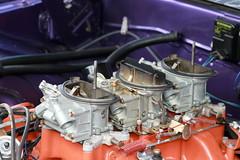 440 CID Sixpack (Triple-green) Tags: iphotooriginal 2007 auto canon24105mm14l canoneos30d kaunitz sixpack strasenkreuzertreffen uscar v8