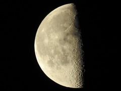 Moon (triciastacey) Tags: luna lunar moon space scorpio january sky creators quarter illumination nikonp900 nikon p900 55 night