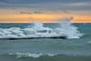 Making a Splash! (A Great Capture) Tags: snow winter lakeontario lake ice frozen beach toronto beaches waves crashing wave splash