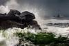Rough Sea (Bernd Thaller) Tags: hoquiam washington usa us ocean sea water sky waterscape drops wind storm