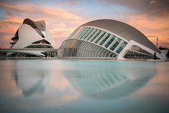 Floating City (McQuaide Photography) Tags: valencia spain europe sony a7rii ilce7rm2 alpha mirrorless 1635mm sonyzeiss zeiss variotessar fullframe mcquaidephotography lightroom adobe photoshop tripod manfrotto light water reflection city urban waterside lowlight architecture outdoor outside waterfront building longexposure morning sunrise cityofartsandsciences ciutatdelesartsilesciències ciudaddelasartesylasciencias modern modernarchitecture architecturalcomplex 12treasuresofspain santiagocalatrava félixcandela attraction tourism travel touristdestination famousplace icon iconic widescreen futuristic future entertainment lhemisfèric imax cinema planeterium elpalaudelesartsreinasofia operahouse calm tranquil colour colours peaceful nopeople floating float nd neutraldensity bwfilters sky