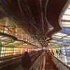 Momentum (vwcampin) Tags: dreamlike colorful colors iphoneographer iphoneography iphoneology iphonology moving focused dream illinois chicago airport o'hare movingwalkway reality alternative blurred blurry neon