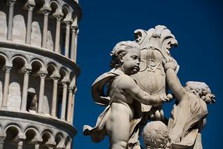 Italia en blanco y azul. Pisa.