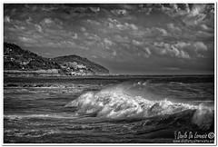 Mareggiata (danilodld) Tags: 2011 sanlorenzoalmare mare liguria landscape bianconero italy imperia onde dldcopyright nuvole parasio