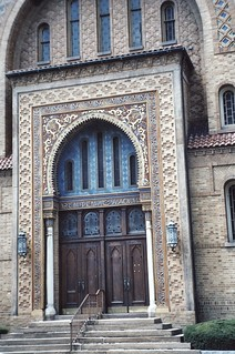 Wilkes-Barre  Pennsylvania - Irem Temple Mosque - Shriners Headquarters  -  Now Abandon  -  Entrance