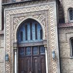 Wilkes-Barre  Pennsylvania - Irem Temple Mosque - Shriners Headquarters  -  Now Abandon  -  Entrance thumbnail