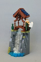 Linque Yanwe (jsnyder002) Tags: rockwork ccc lego moc model creation vignette 8x8 landscape mountain cliff water waterfall dragon bridge elve elf pavilion roof elven elvish