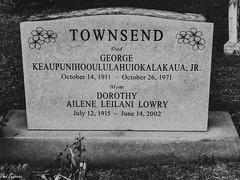 A Very Hawaiian Name (Thad Zajdowicz) Tags: zajdowicz leica honolulu hawaii oahu cemetery usa travel tombstone name letters words writing text numbers stone blackandwhite bw monochrome black white availablelight hawaiian