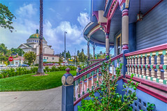 View From the Porch (Michael F. Nyiri) Tags: westadamsdistrict victorianarchitecture colorful california southerncalifornia architecture
