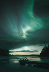 017 (petrisalonen) Tags: northernlights auroraborealis auroras landscape ice astrophotography trees forest nature finland longexposure water blue night frozen light atmosphere stars clouds space nightphotography