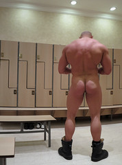 ANT-006-53 (Hardron) Tags: bodybuilder muscle naked pecs gym exhibitionist