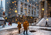 Trumps Gold Snow on Wall Street. (Several seconds) Tags: goldsnow wallstreet raininggold wallstreetgold snowinggold goldensnow snowinggoldonwallstreet blizzard2018nyc trumpsnow