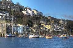 Yachts moored on the Looe River, Cornwall (Baz Richardson (now away until 26 Oct)) Tags: cornwall looe looeriver rivers yachts cornishharbours