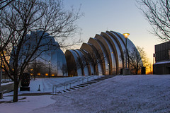 A Winter's Concerto (KC Mike Day) Tags: music concerto venue kauffmancenterfortheperformingarts arts architecture design snow winter sunset kauffman