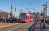 Amsterdam Amstelbrug GVB 2107 Thalys reclame (Rob Dammers) Tags: thalys tram amsterdam gvb brug bridge amstel