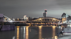 Honsellbrücke (imagejon) Tags: lensbaby frankfurt osthafen