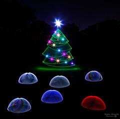 Dome xmas Party (picturesbysteve) Tags: december ©stephenhumpleby 2017 lightpainting tree canon xmas 6d lp test merry christmas holiday season blade light lapp ledlenser colourshine