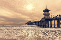 Pier (Hanna Tor) Tags: california hannator landscape pacific sony ocean sea seascape sky sun sundown sunset wave sony7rm3
