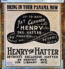 Panama (DetroitDerek Photography ( ALL RIGHTS RESERVED )) Tags: allrightsreserved 313 detroit downtown icon hat henrythehatter sign ad advertisement vintage display panama exclusive historic 1893 2017 december easternmarket michigan detroitderek midwest usa america canon 5d mkii digital hdr 3exp interior inside motown motorcity