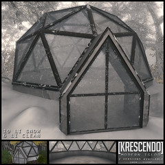 [Kres] Modern Igloo ([krescendo]) Tags: christmas holidayhunt bepsl kres krescendo igloo modernigloo glass glassdome snowy winter festive seasonal