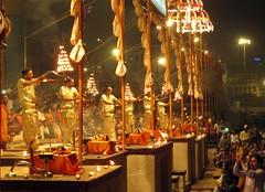 varanasi (gerben more) Tags: varanasi aarti ceremony benares india people men priest